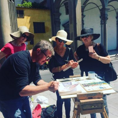 23rd – 28th October 2021 Florence Watercolour Course