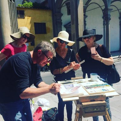 11th – 16th September 2021 Florence Watercolour Course